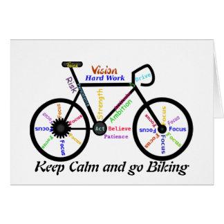 Behalten Sie Ruhe und gehen Sie, mit motivierend W Grußkarte