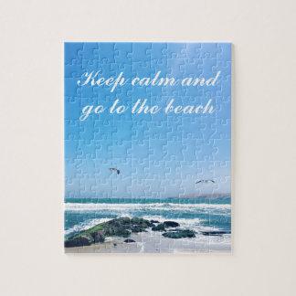 Behalten Sie Ruhe und gehen Sie zum Strand Puzzle
