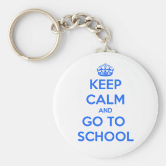 Behalten Sie Ruhe und gehen Sie zur Schule: P Standard Runder Schlüsselanhänger