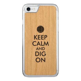 Behalten Sie Ruhe und graben Sie auf Carved iPhone 8/7 Hülle