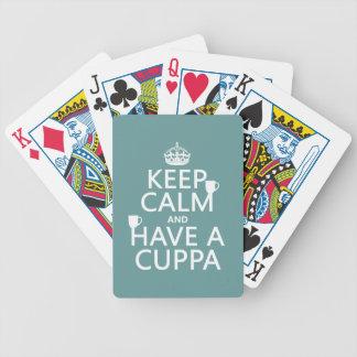 Behalten Sie Ruhe und haben Sie ein Cuppa - alle Bicycle Spielkarten