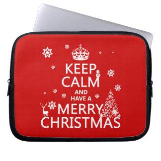 Behalten Sie Ruhe und haben Sie frohen Weihnachten Laptopschutzhülle