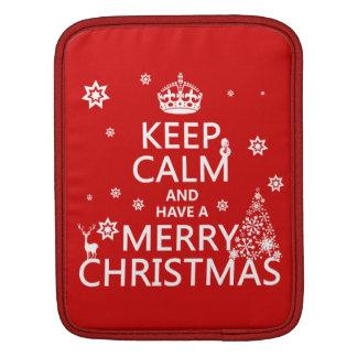 Behalten Sie Ruhe und haben Sie frohen Weihnachten Sleeve Für iPads