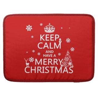 Behalten Sie Ruhe und haben Sie frohen Weihnachten Sleeve Für MacBooks