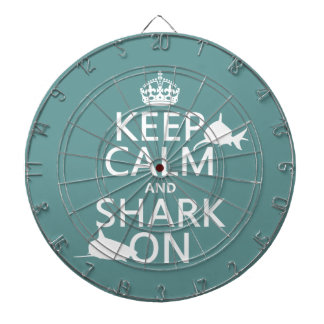 Behalten Sie Ruhe und Haifisch auf (kundengerechte Dartscheibe