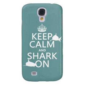 Behalten Sie Ruhe und Haifisch auf (kundengerechte Galaxy S4 Hülle