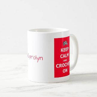 Behalten Sie Ruhe und häkeln Sie an - mit Ihrem Kaffeetasse