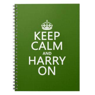 Behalten Sie Ruhe und Harry auf (irgendeine Farbe) Notizblock