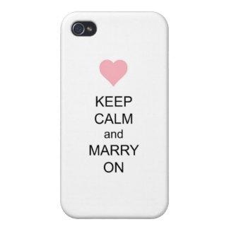 Behalten Sie Ruhe und heiraten Sie an Etui Fürs iPhone 4