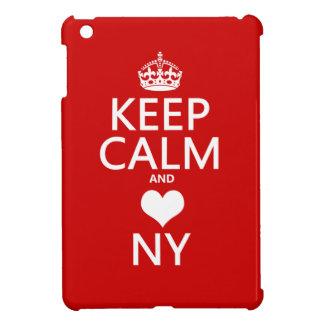 Behalten Sie Ruhe und Herz New York iPad Mini Hülle