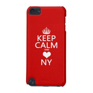 Behalten Sie Ruhe und Herz New York iPod Touch 5G Hülle