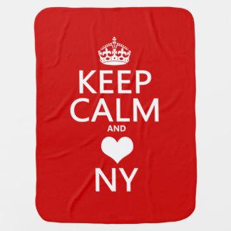 Behalten Sie Ruhe und Herz New York Kinderwagendecke