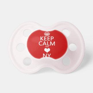Behalten Sie Ruhe und Herz New York Schnuller