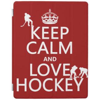 Behalten Sie Ruhe und Hockey an iPad Hülle