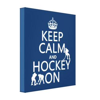 Behalten Sie Ruhe und Hockey auf (in irgendeiner Leinwanddruck
