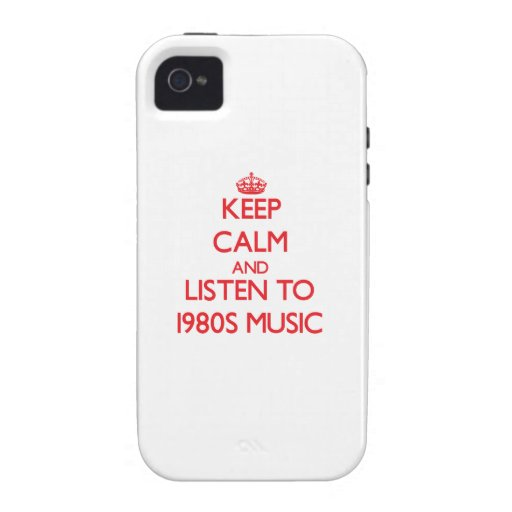 Behalten Sie Ruhe und hören Sie Achtzigerjahre Case-Mate iPhone 4 Cover