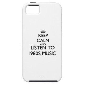 Behalten Sie Ruhe und hören Sie Achtzigerjahre Etui Fürs iPhone 5