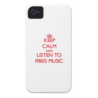 Behalten Sie Ruhe und hören Sie Achtzigerjahre Case-Mate iPhone 4 Hüllen