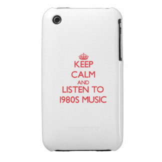 Behalten Sie Ruhe und hören Sie Achtzigerjahre iPhone 3 Hülle