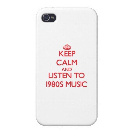 Behalten Sie Ruhe und hören Sie Achtzigerjahre iPhone 4 Hülle