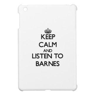 Behalten Sie Ruhe und hören Sie auf Barnes iPad Mini Cover