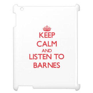 Behalten Sie Ruhe und hören Sie auf Barnes Hüllen Für iPad
