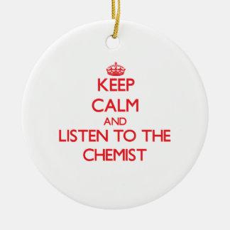 Behalten Sie Ruhe und hören Sie auf den Chemiker Ornamente