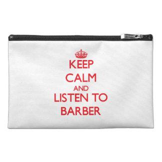 Behalten Sie Ruhe und hören Sie auf Friseur