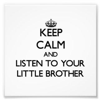 Behalten Sie Ruhe und hören Sie auf Ihren kleinen