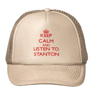 Behalten Sie Ruhe und hören Sie auf Stanton Baseball Mütze