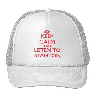 Behalten Sie Ruhe und hören Sie auf Stanton Retrokultmützen