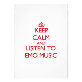 Behalten Sie Ruhe und hören Sie EMO MUSIK Ankündigungskarte
