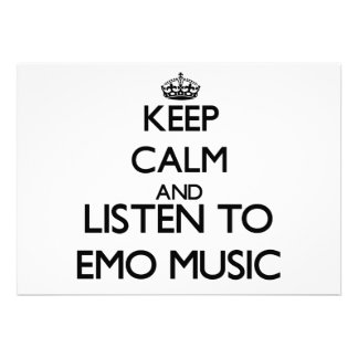 Behalten Sie Ruhe und hören Sie EMO MUSIK Ankündigungen