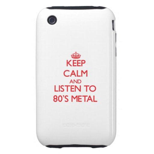 Behalten Sie Ruhe und hören Sie zu Achtzigerjahre iPhone 3 Tough Hüllen