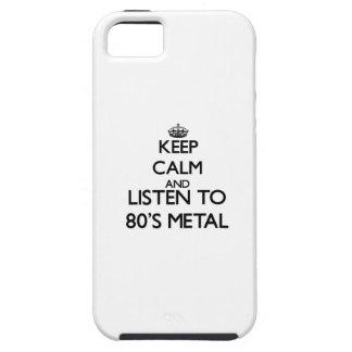 Behalten Sie Ruhe und hören Sie zu Achtzigerjahre iPhone 5 Hülle