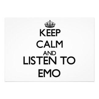 Behalten Sie Ruhe und hören Sie zu EMO Personalisierte Einladungen