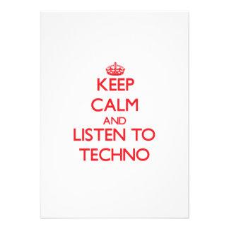 Behalten Sie Ruhe und hören Sie zu TECHNO