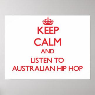 Behalten Sie Ruhe und hören Sie zum AUSTRALISCHEN