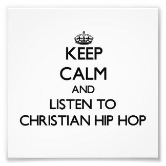 Behalten Sie Ruhe und hören Sie zum CHRISTLICHEN Kunstfotos