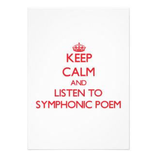 Behalten Sie Ruhe und hören Sie zum SYMPHONIC