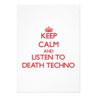 Behalten Sie Ruhe und hören Sie zum TOD TECHNO