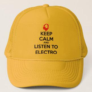 Behalten Sie Ruhe und hören Sie zur Electro Truckerkappe