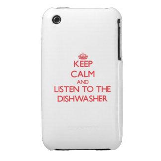 Behalten Sie Ruhe und hören Sie zur Spülmaschine iPhone 3 Case-Mate Hülle