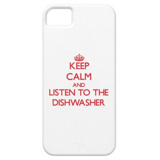 Behalten Sie Ruhe und hören Sie zur Spülmaschine iPhone 5 Schutzhülle