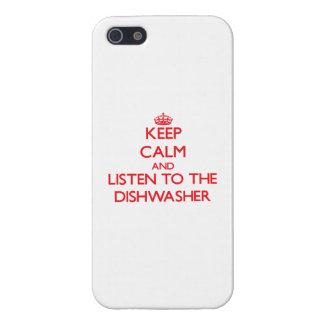 Behalten Sie Ruhe und hören Sie zur Spülmaschine iPhone 5 Cover