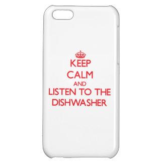 Behalten Sie Ruhe und hören Sie zur Spülmaschine Hülle Für iPhone 5C