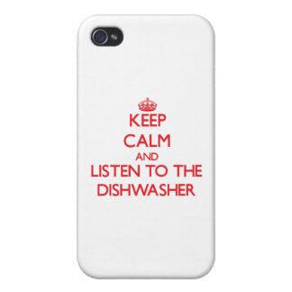 Behalten Sie Ruhe und hören Sie zur Spülmaschine iPhone 4 Hüllen