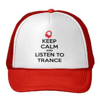 Behalten Sie Ruhe und hören Sie zur Trance Retrokultkappen
