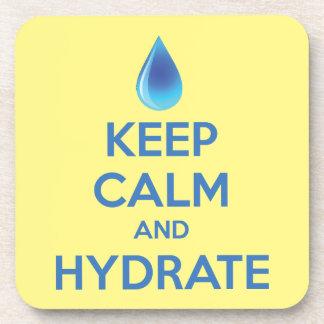 Behalten Sie Ruhe und Hydrat Untersetzer