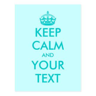 Behalten Sie Ruhe und Ihr Textpostkarten | Postkarte